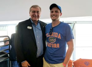 UF Online First Chomp in The Swamp-Jackson and UF President Fuchs