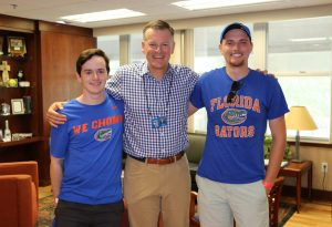 UF Online First Chomp in The Swamp-Jackson and Gators Athletic Director Scott Stricklin
