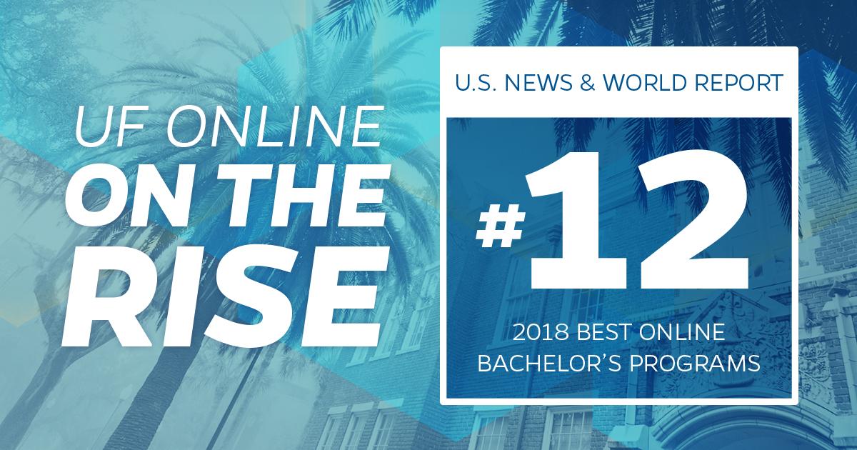 UF Online on the Rise: #12 Best Online Bachelor's Programs
