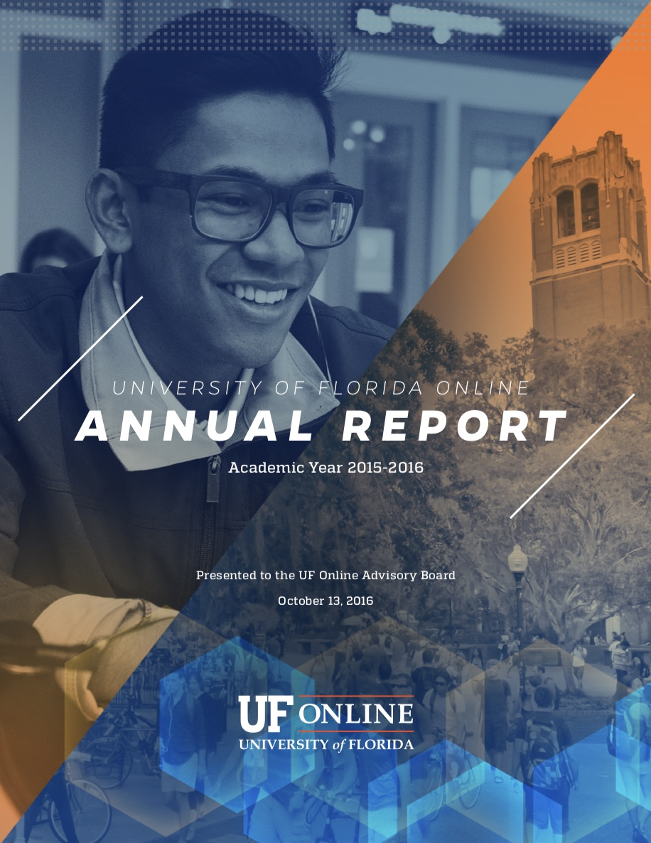 UF Online image of the cover of the UFO 2015-2016 Annual Report