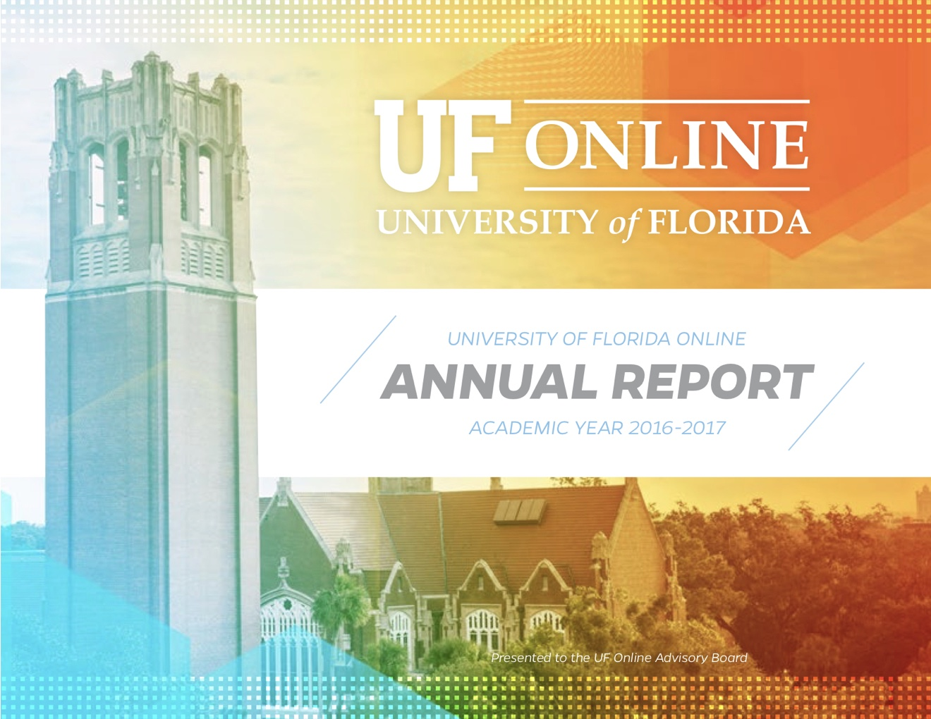 UF Online image of the cover of the UFO 2016-2017 Annual Report